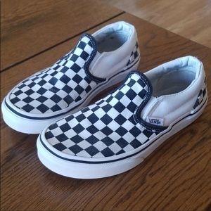 Vans- checker , little girls size 1 1/2